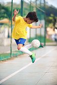 Soccer player showing his skill with the ball