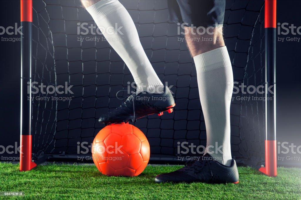 축구 축구 공에 근접 촬영 된 개념입니다. 국제 tourment의 동기 - 로열티 프리 경기-스포츠 스톡 사진