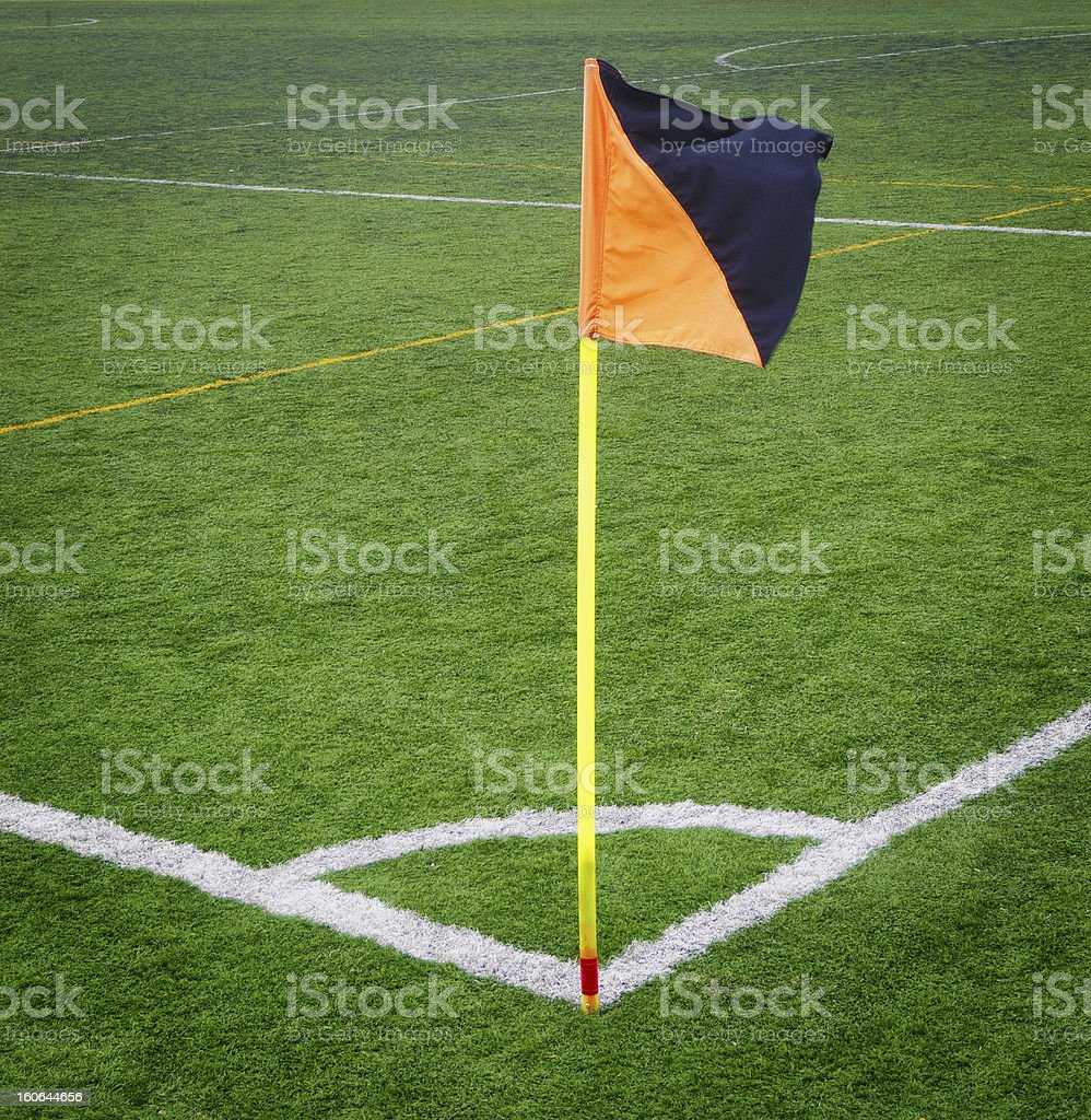 Soccer Corner Flag royalty-free stock photo