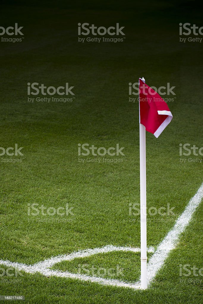 Soccer corner flag royalty-free stock photo