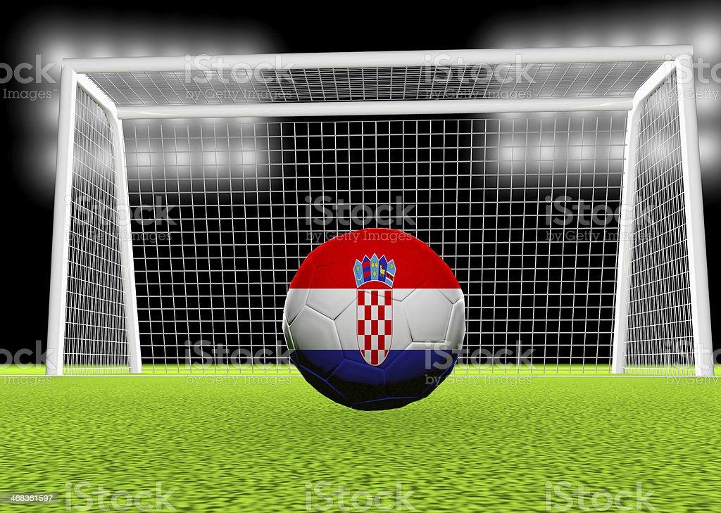 Soccer Croatia royalty-free stock photo