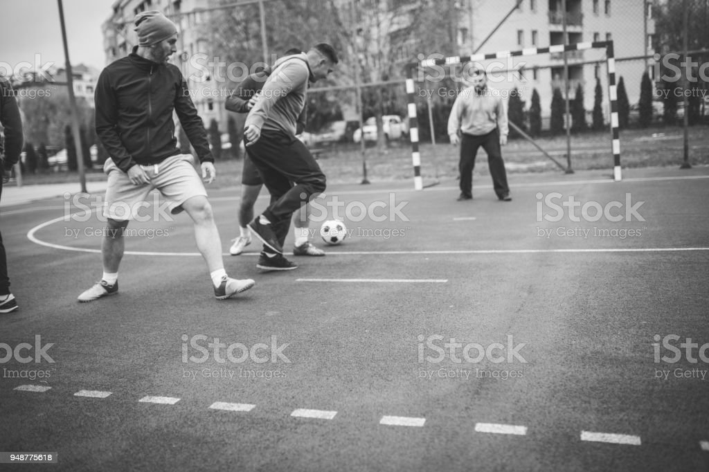 Soccer day stock photo
