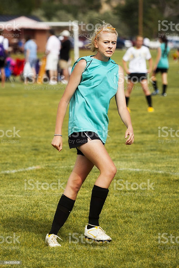 Soccer Disgusted Attitude royalty-free stock photo