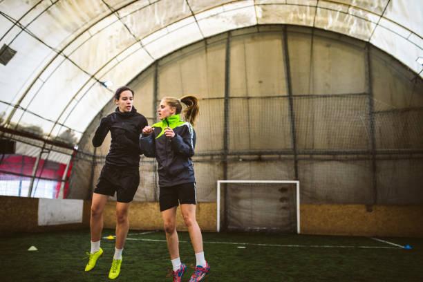 Soccer drills stock photo