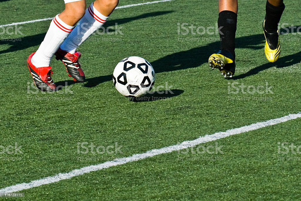 Soccer Dual royalty-free stock photo