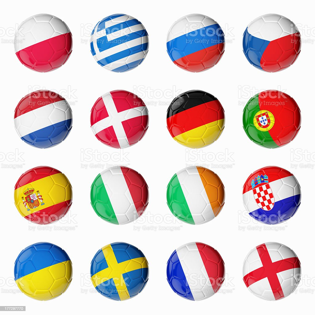 Soccer Euro 2012 stock photo