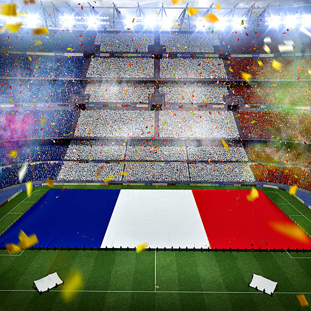 Soccer event in France stock photo