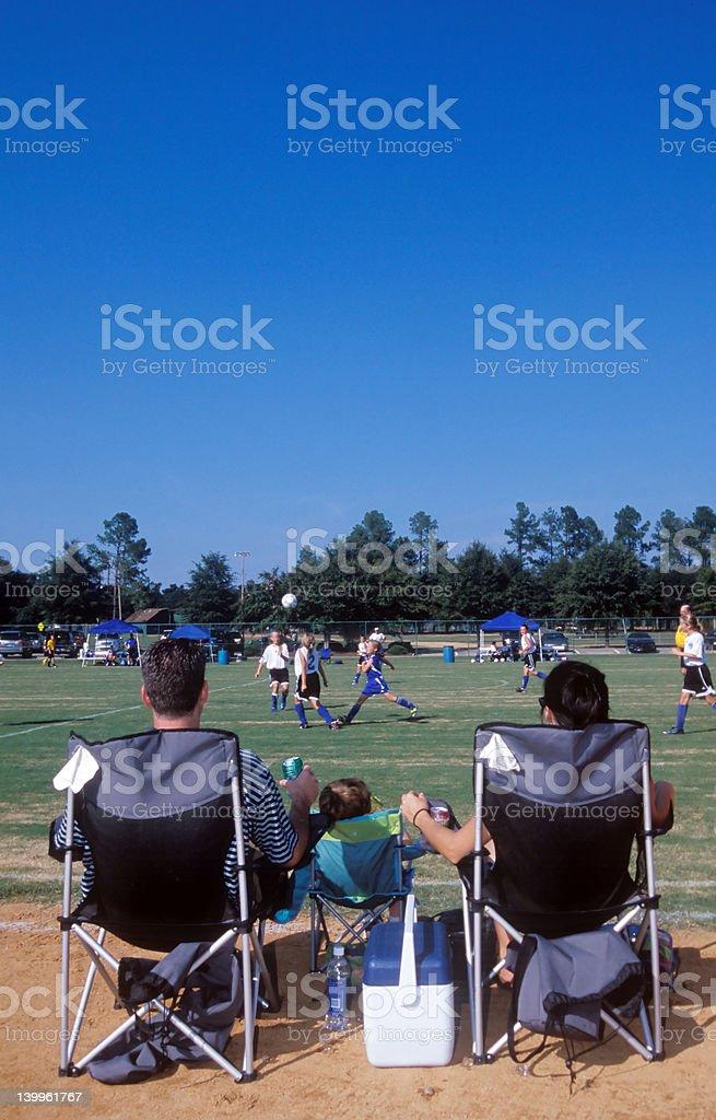 Soccer Family stock photo