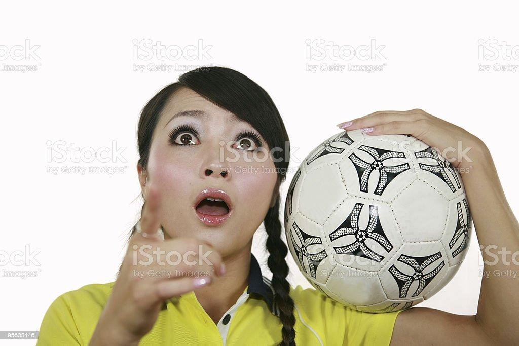 Soccer fan royalty-free stock photo
