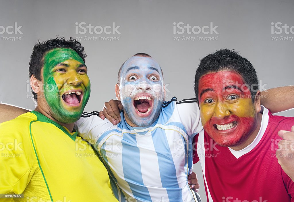 Soccer Fans royalty-free stock photo