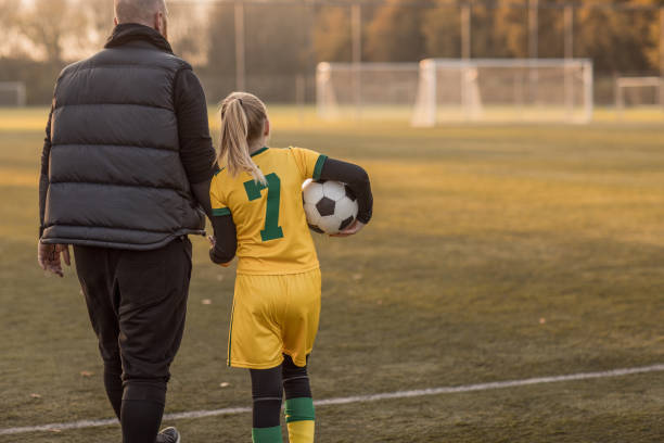 Soccer father sports chaperone stock photo