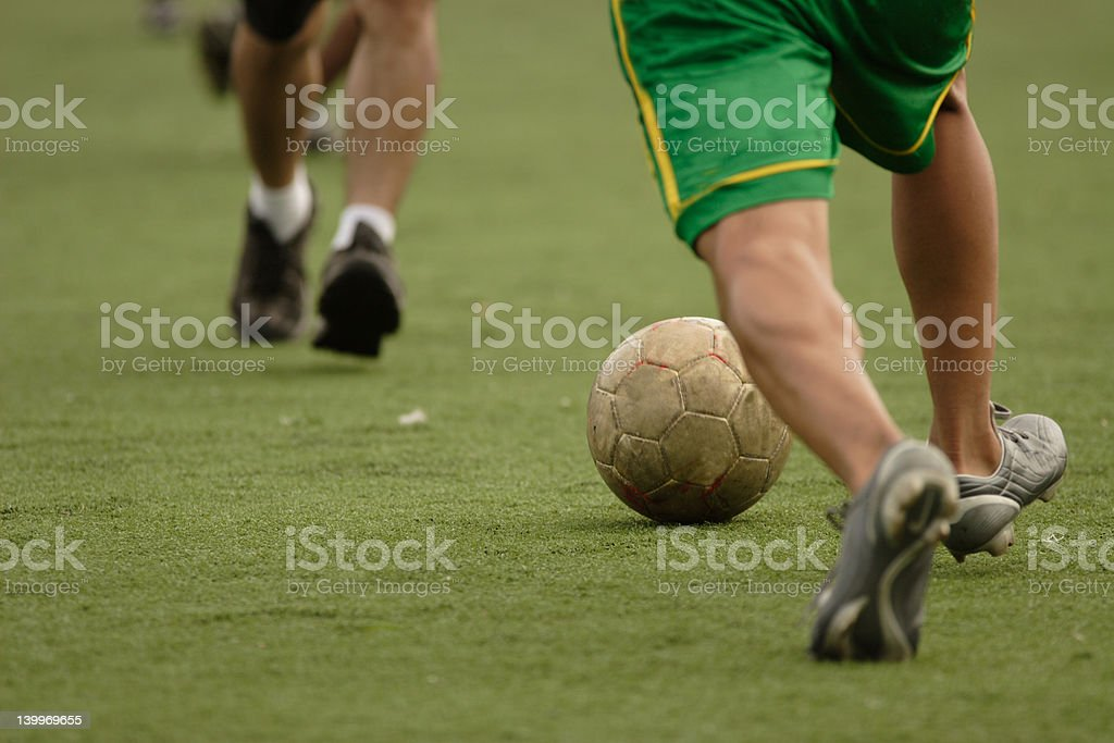 Soccer feet royalty-free stock photo