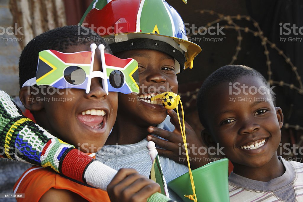 Soccer fever South Africa stock photo