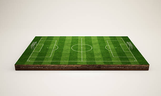 soccer field 3d - soccer field stock photos and pictures