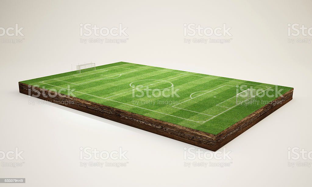 Soccer Field 3D stock photo
