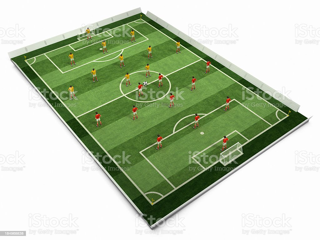 Soccer field and players royalty-free stock photo