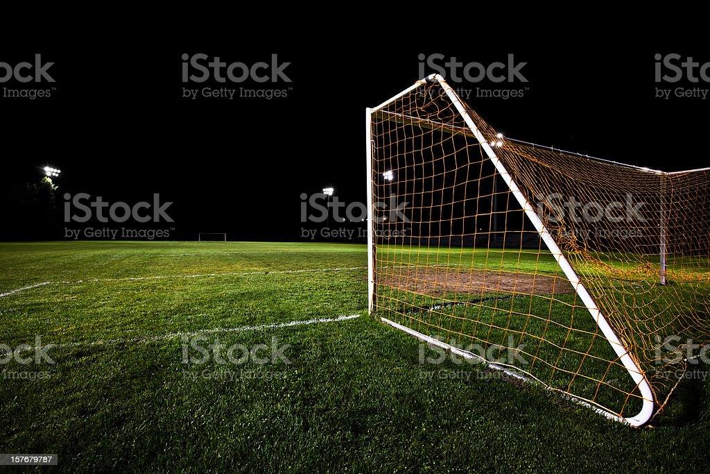 Soccer Field at Night royalty-free stock photo