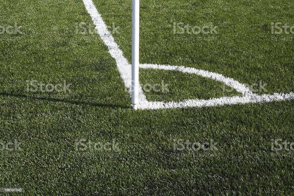 Soccer Field Corner stock photo