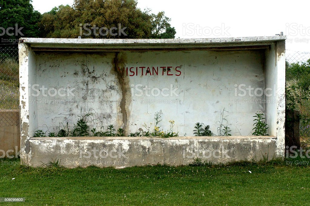 Soccer Field Dugout. stock photo