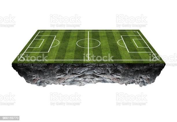 Fotbollsplan Flytande Islandisolated På Vit Bakgrund-foton och fler bilder på Atlet