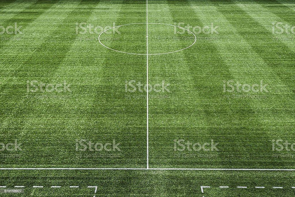 soccer field football fussballfeld stock photo