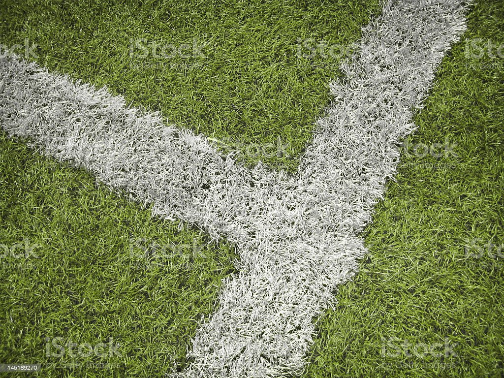 Soccer field fragment royalty-free stock photo