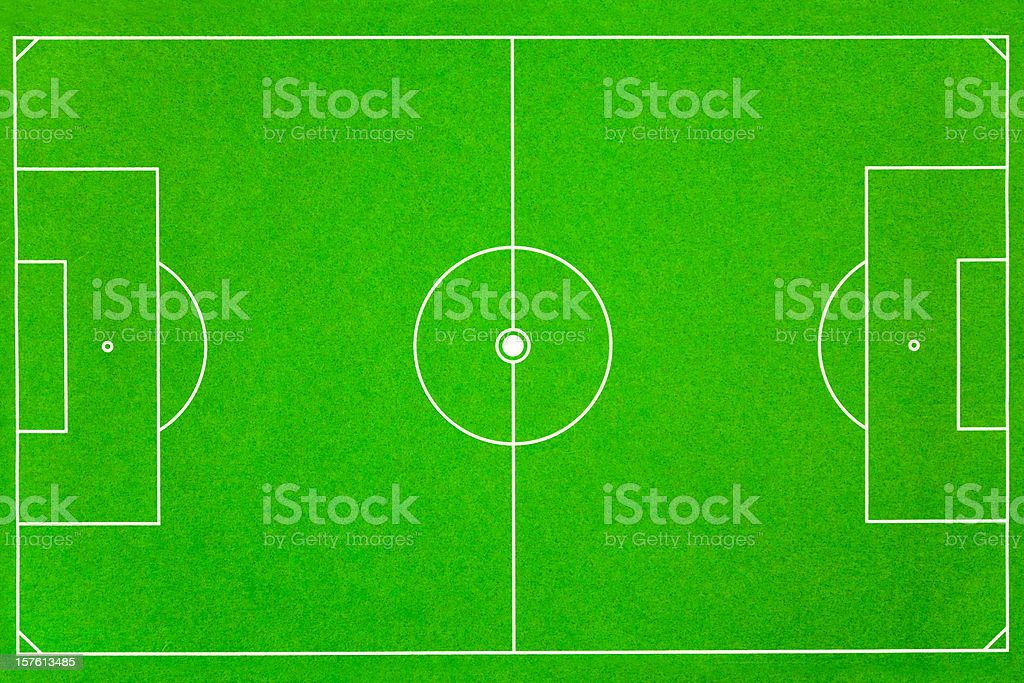 soccer field fussballfeld stock photo