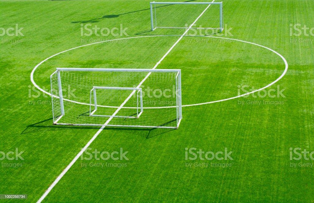 Fussball Feld Gras Stockfoto Und Mehr Bilder Von Abstrakt