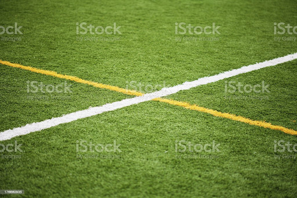 Soccer Field Lines royalty-free stock photo