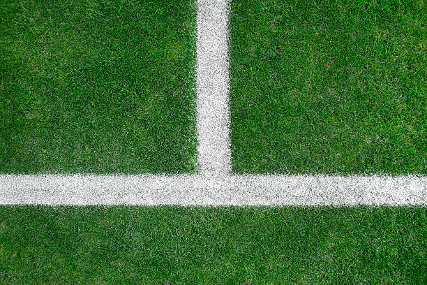 soccer field - farbfeldmalerei stock-fotos und bilder
