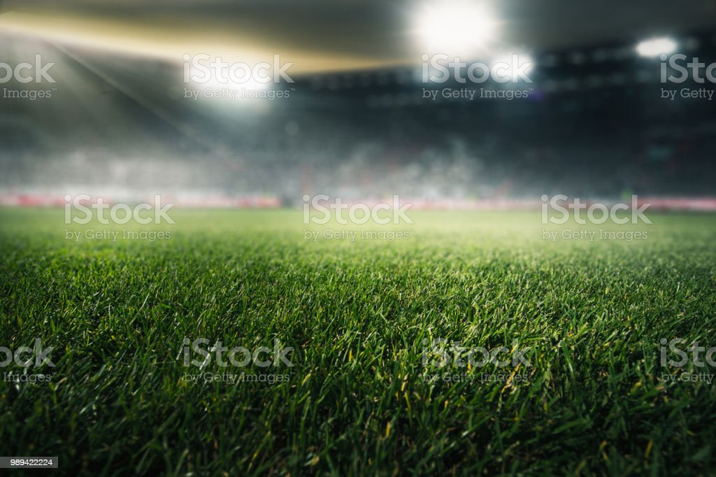 voetbalveld - Royalty-free 2018 Stockfoto