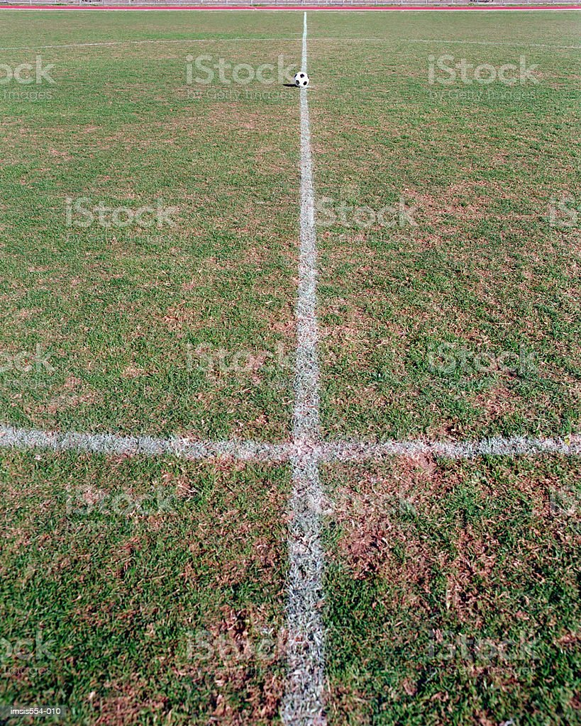 Campo da calcio foto stock royalty-free
