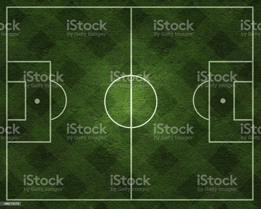 Soccer field with real gress texture royalty-free stock photo