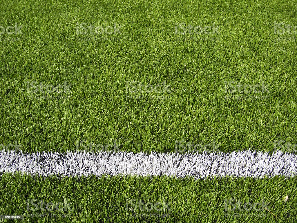 Soccer Field's Line Horizontal stock photo