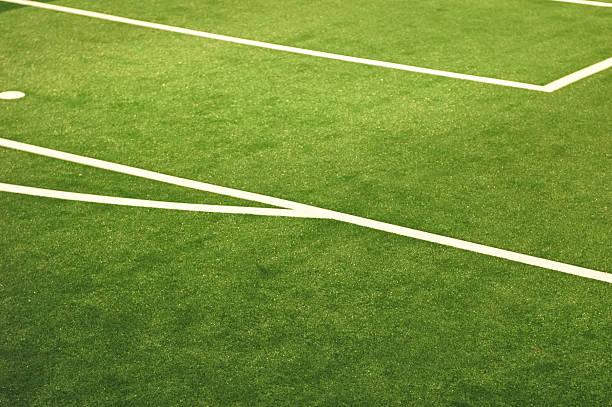 Linee di campo di calcio - foto stock