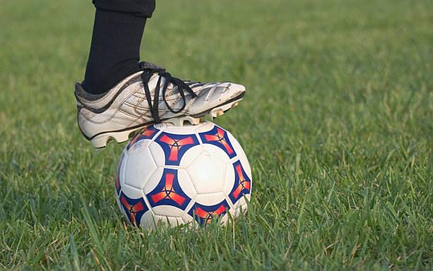 Soccer Foot stock photo