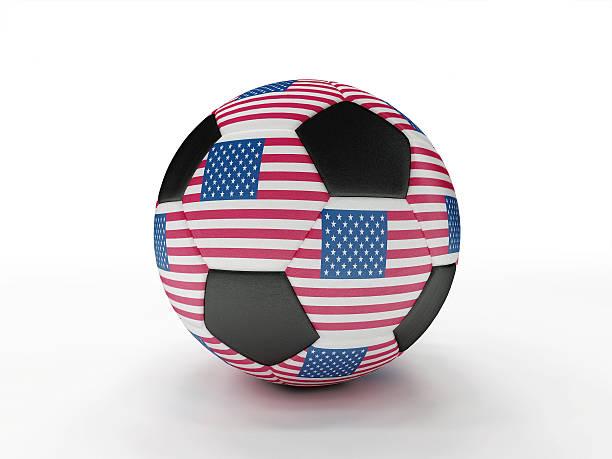 USA soccer football ball stock photo