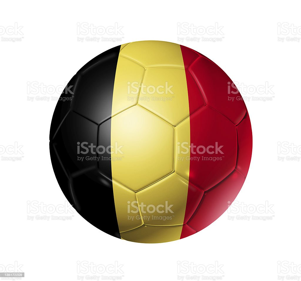 Soccer football ball with Belgium flag royalty-free stock photo
