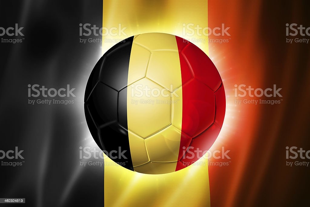 Ballon de football Soccer avec le drapeau de la Belgique - Photo