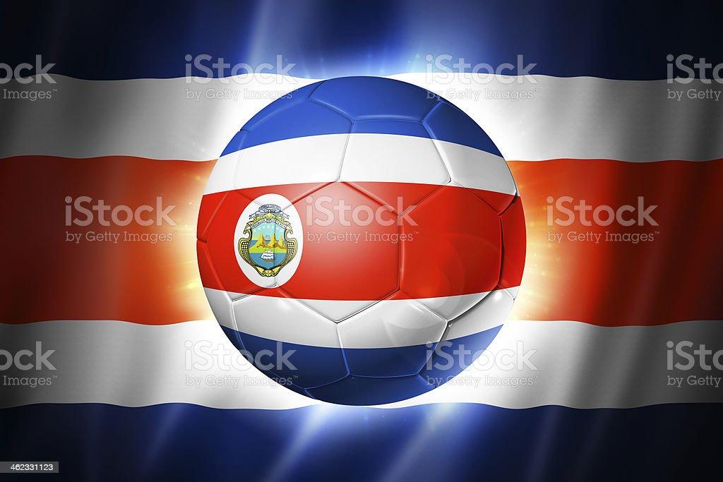 Soccer football ball with Costa Rica flag stock photo