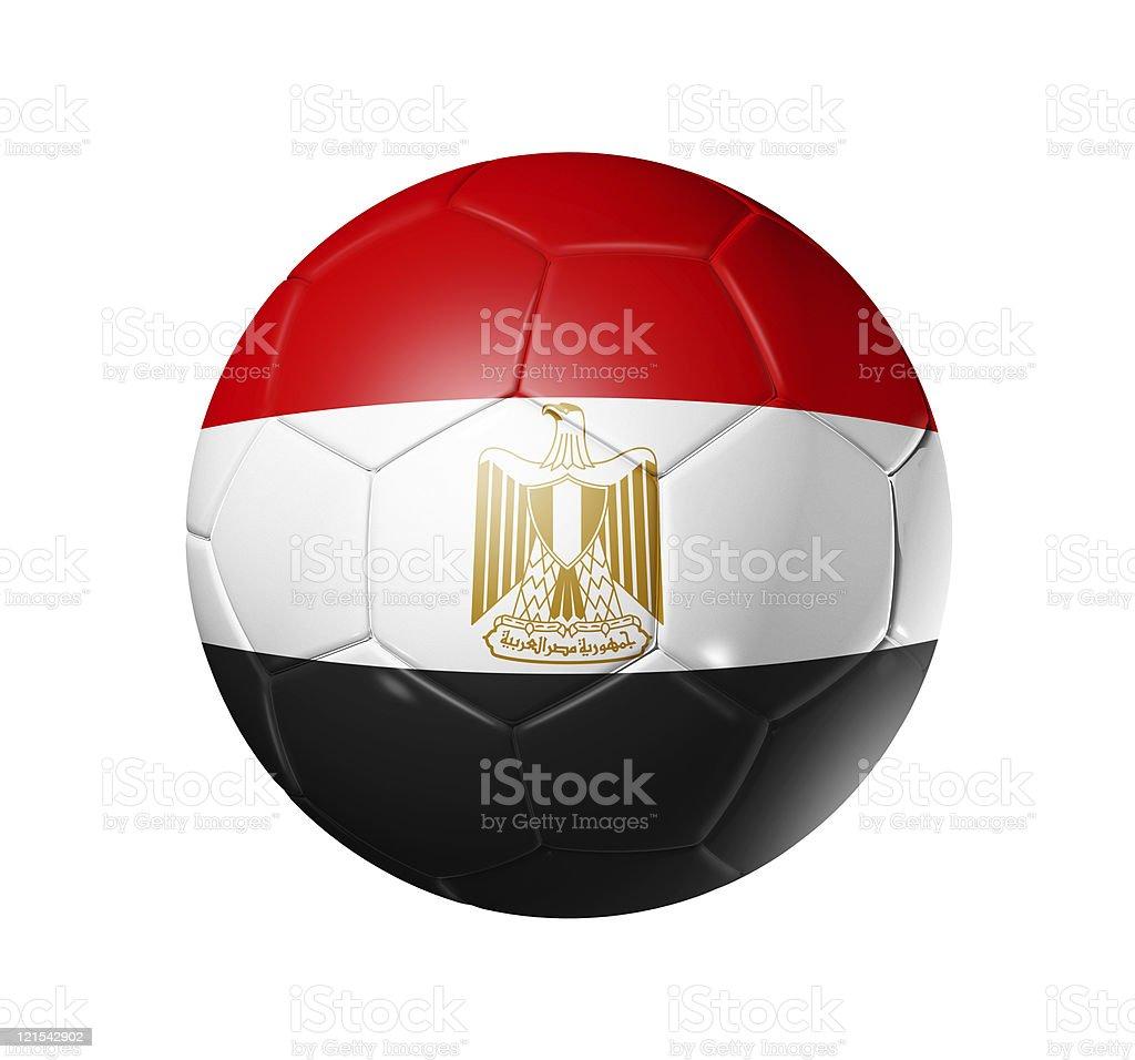 Pelota de fútbol fútbol con la bandera de Egipto - foto de stock