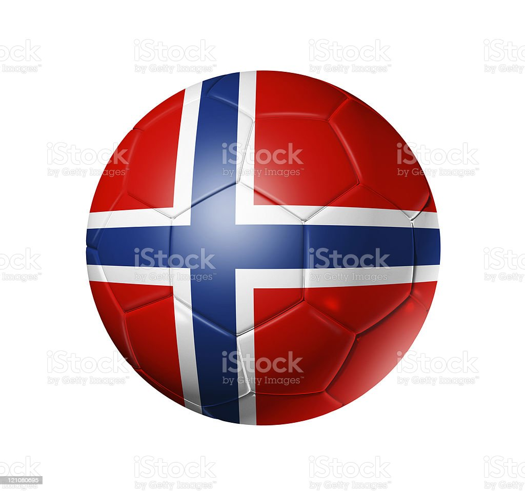 Soccer football ball with Norway flag royalty-free stock photo