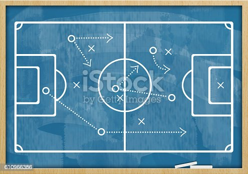 istock Soccer - Football  / Blue board concept (Click for more) 610966386