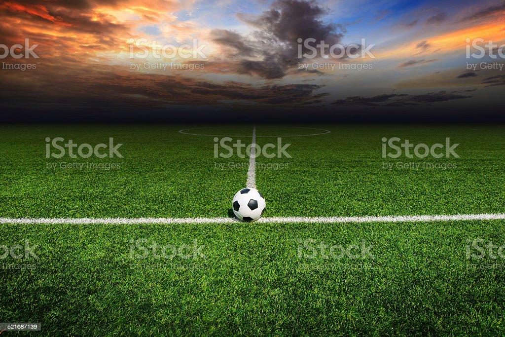 Soccer football field stock photo