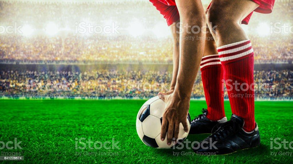 soccer football kick off royalty-free stock photo