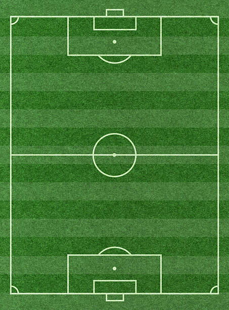 soccer football pitch background textured - soccer field stock photos and pictures