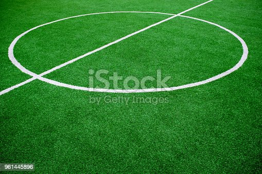 istock Soccer Football Pitch background textured 961445896
