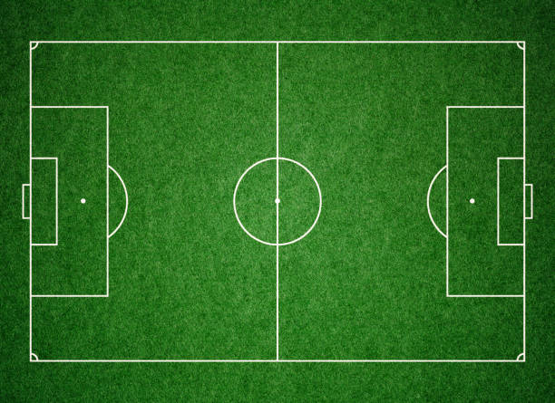 soccer football pitch grass background - soccer field stock photos and pictures