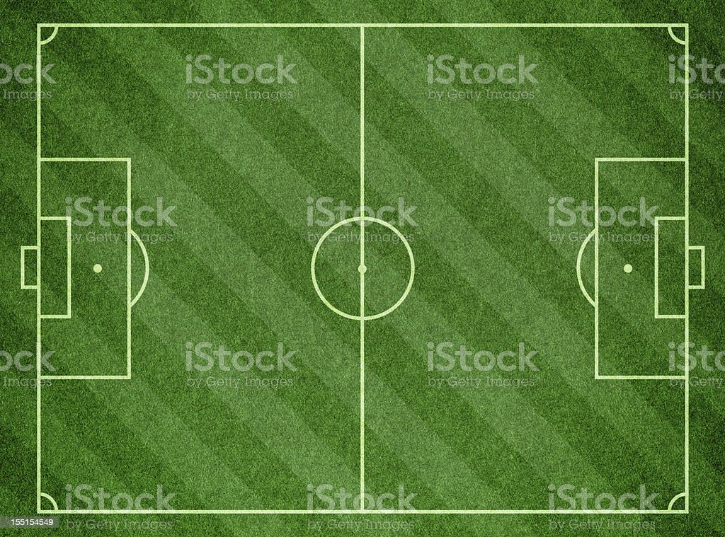 Soccer Football Pitch royalty-free stock photo