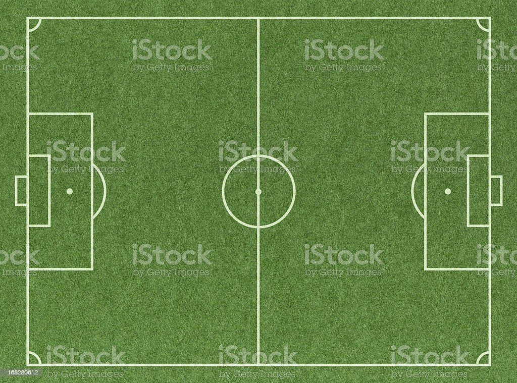 Soccer Football Pitch stock photo